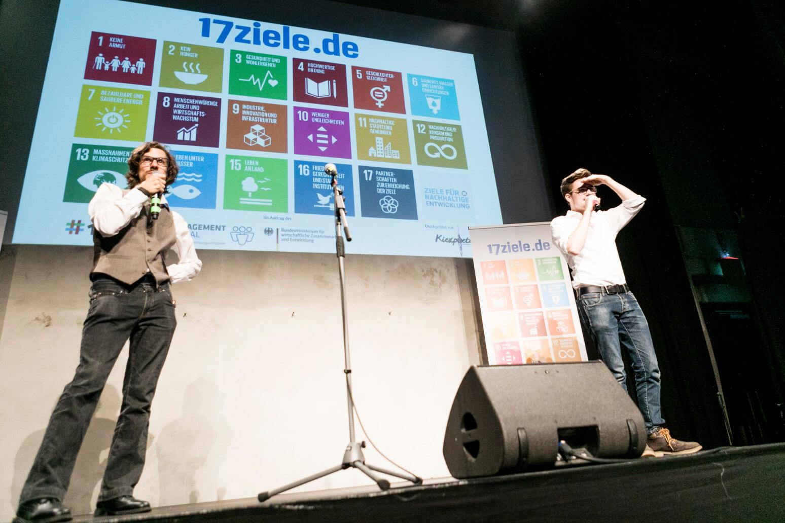 Moderation des 17Ziele Auftragsslam, Jesko Habert, Ortwin Bader-Iskraut