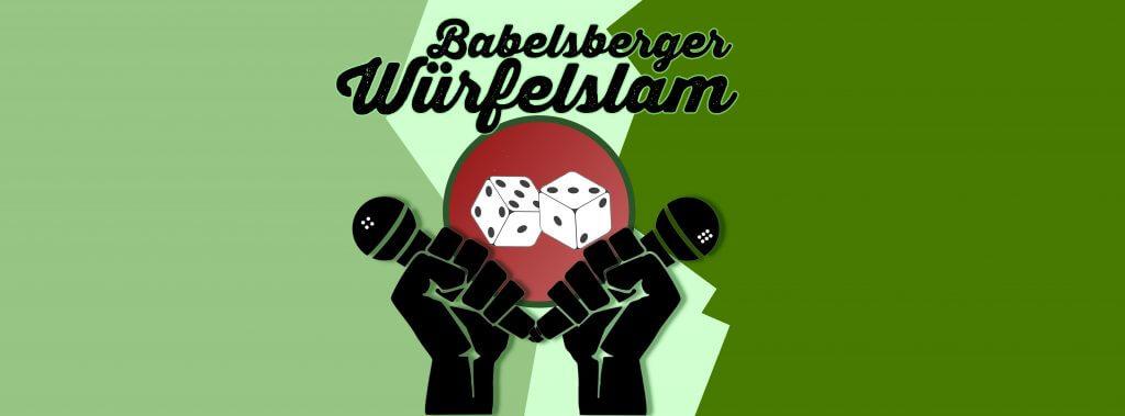Babelsberger Würfelslam Potsdam (Altes Poetry Slam Logo Babelsberg)