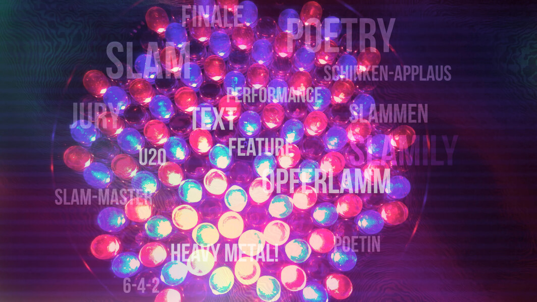 Poetry Slam Begriffe-Tagcloud