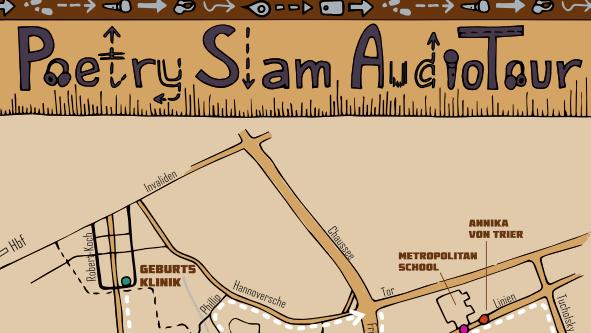 Poetry Slam AudioTour Stadtkarte Berlin